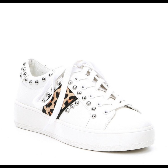 4040ce00b8a NWT Steve Madden Belle Leopard studded sneakers